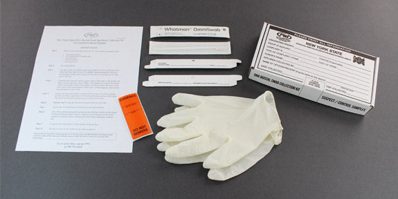 NYS DNA Buccal Swab Collection Kit for Suspect/Control Samples